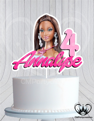 African American Barbie Cake Topper