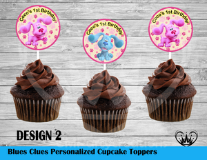 Blues Clues New Round Cupcake Toppers