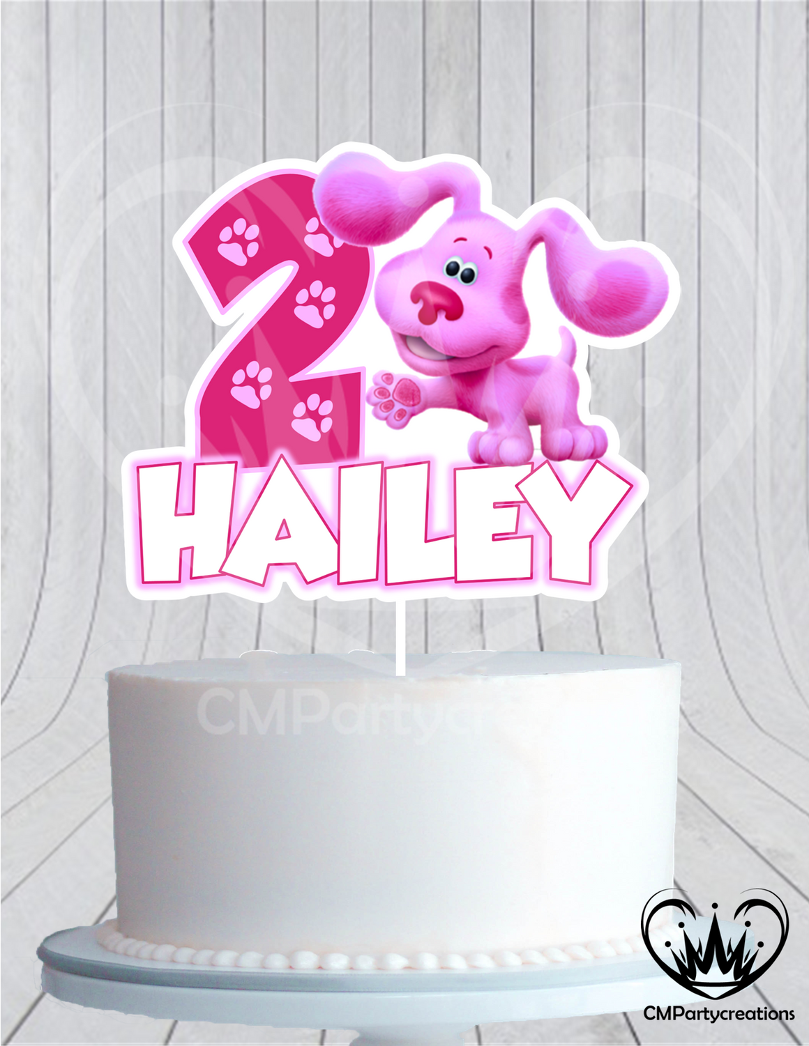 Blues Clues Magenta Cake Topper Birthday Modern