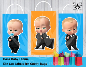 Boss Baby Die Cut Goody Bag Labels