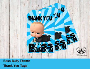Boss Baby Personalized Thank You Tags