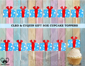 Cleo y Cuquin Telerin Family GIft Box Cupcake Toppers