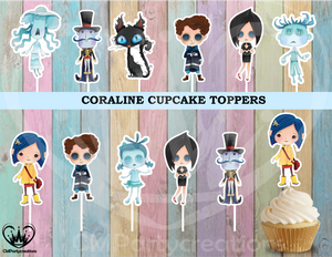 Coraline Party Cupcake Toppers Die Cuts