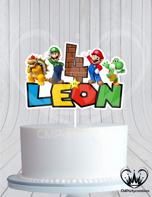 Mario Brothers Birthday Cake Topper