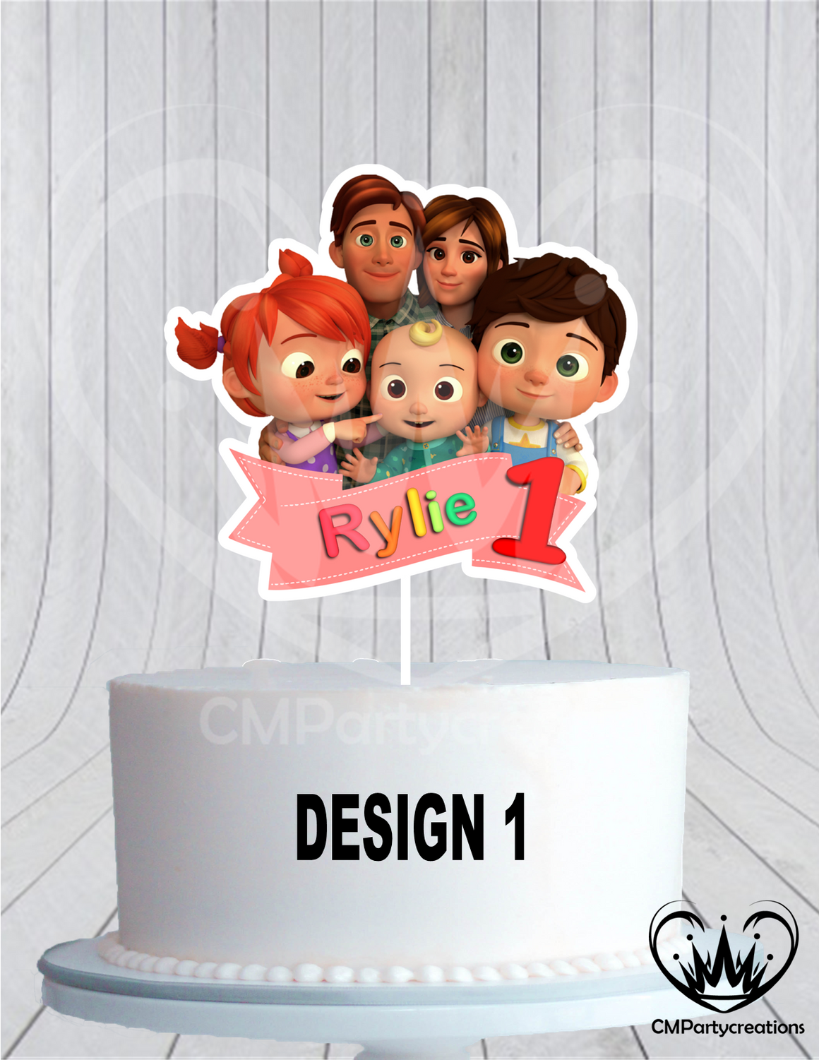 Cocomelon Cake Topper Birthday Group