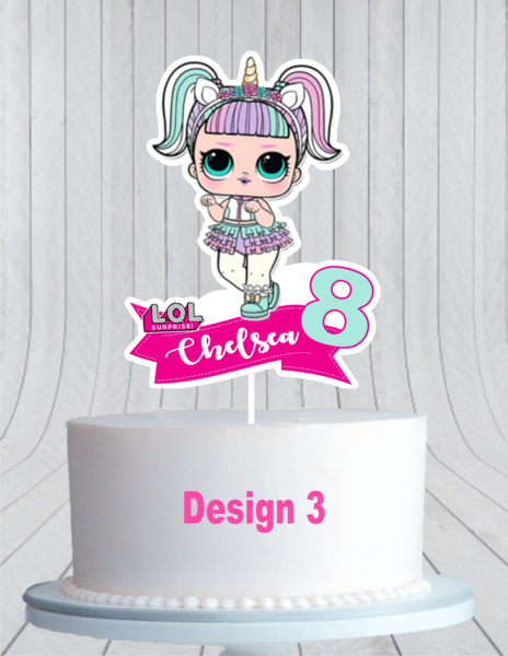 Lol Surprise Dolls Cake Topper L O L Cake Topper Cmpartycreations