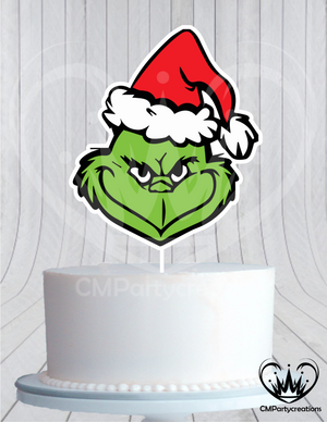 Grinch Solo Dr Seuss Cake Topper