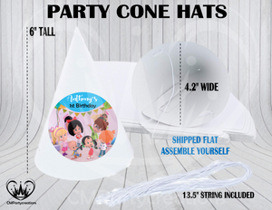 Cleo y Cuquin Personalized Cone Hats