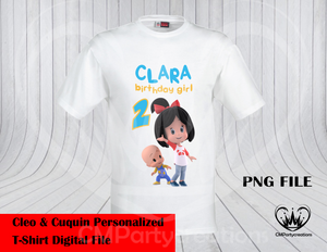 Cleo y Cuquin Telerin Family T-Shirt PNG Image Only