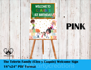 Cleo & Cuquin Poster Sign Welcome