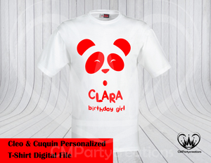 Cleo y Cuquin Telerin Family Panda T-Shirt PDF Image Only