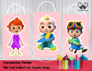 Cocomelon Die Cut Goody Bag Labels