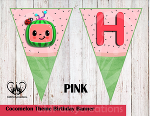 Cocomelon Banner Birthday Party