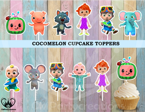 Cocomelon Cupcake Toppers Birthday Party