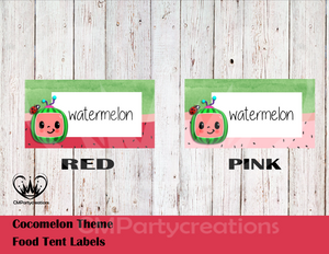 Cocomelon Food Tent Sticker Labels