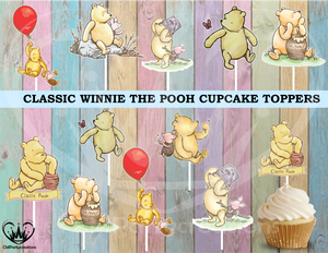 Classic Winnie the Pooh Cupcake Toppers Die Cuts