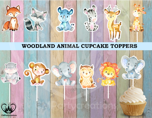 Woodland Park Zoo Animals Cupcake Toppers