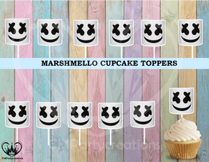 Fortnite Marshmello Head Only Cupcake Toppers