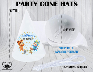 Dave & Ava Personalized Cone Hats