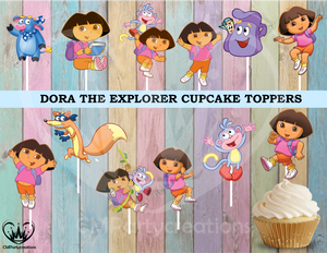 Dora the Explorer Birthday Party Cupcake Toppers Die Cuts