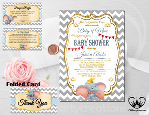 Dumbo Baby Shower Invitation