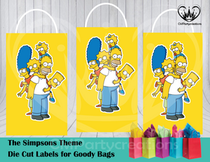 Simpsons Die Cut Goody Bag Labels