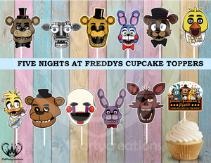 Five Nights At Freddy's Cupcake Topper
