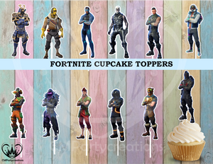 Fortnite Boys Cupcake Toppers