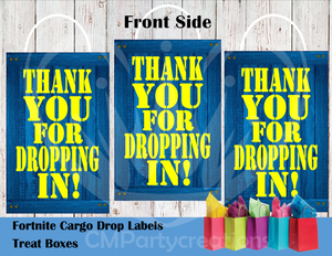 Fortnite Thank You Die Cut Goody Bag Labels
