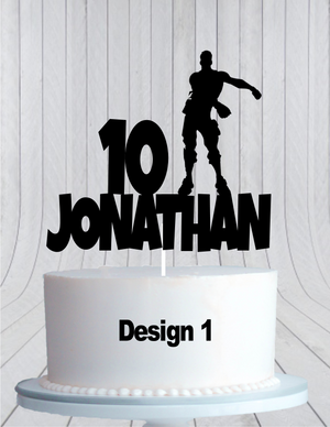 Fortnite Birthday Cake Topper