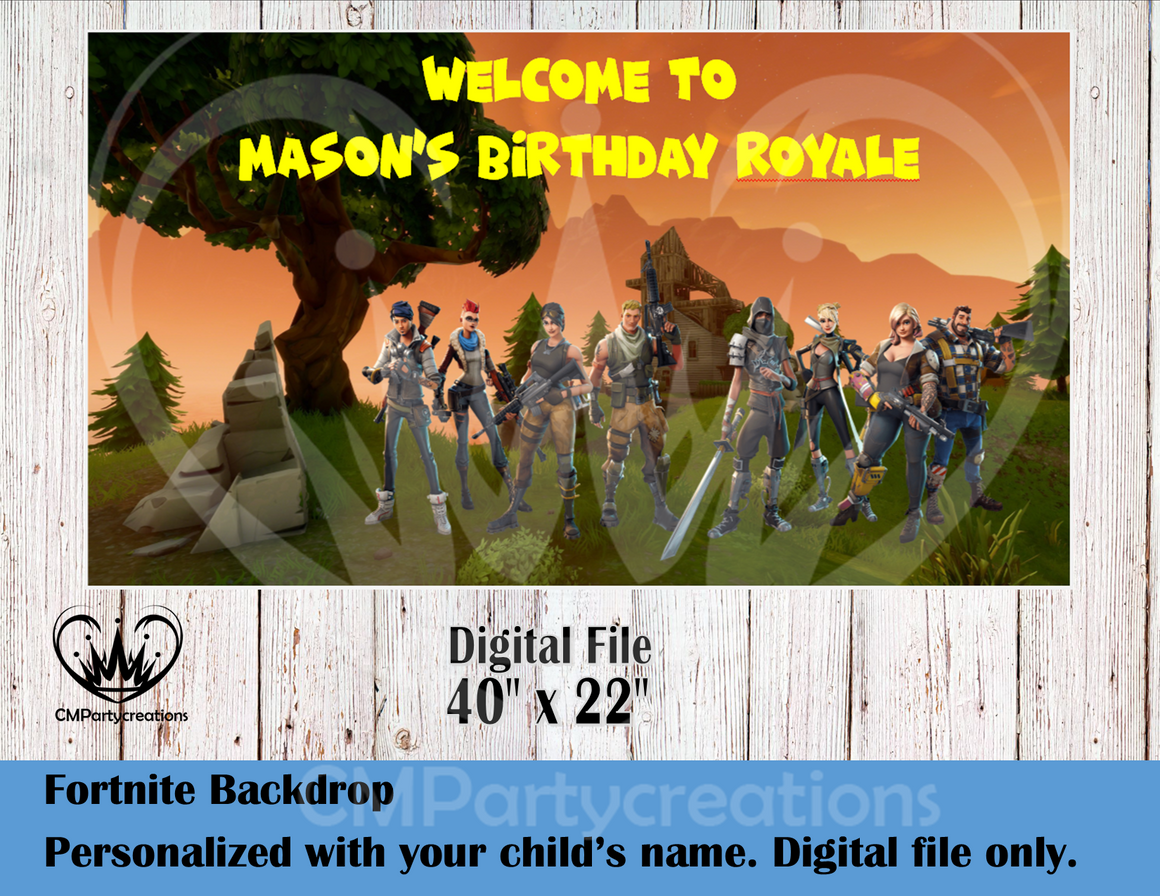 Fortnite Personalized Backdrop **IMAGE ONLY***