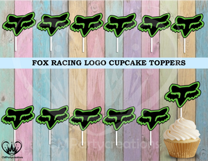 Fox Racing Logo Cupcake Toppers Die Cuts