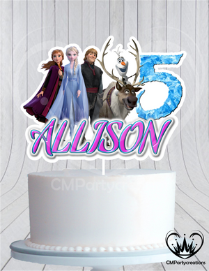 Frozen 2 Group Cake Topper Birthday