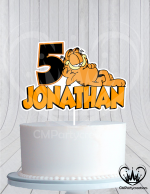 Garfield Cake Topper Birthday Party
