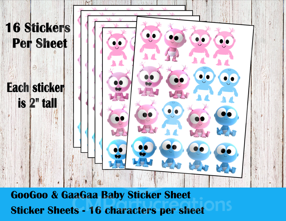 GooGoo & GaaGaa Sticker Labels