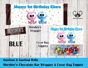GooGoo & GaaGaa Hershey's Wrapper and Favor Bag Toppers