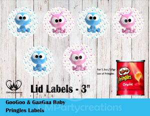 GooGoo & GaaGaa Pringles Can Lid Labels