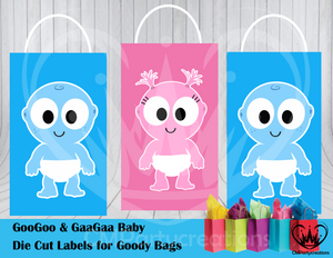 GooGoo & GaaGaa Die Cut Goody Bag Labels