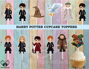 Harry Potter Birthday Party Cupcake Toppers Die Cuts