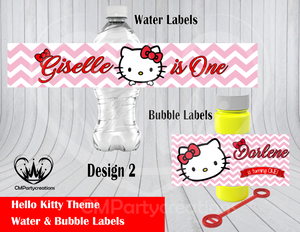 Hello Kitty Water & Bubble Labels