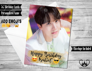 BTS J-Hope K-Pop Personalized Birthday Card