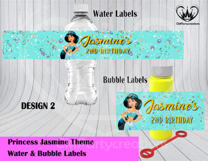 Jasmine Water & Bubble Labels