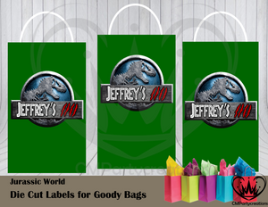 Jurassic World Die Cut Goody Bag Labels