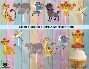 The Lion Guard Birthday Party Cupcake Toppers Die Cuts