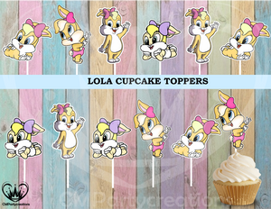 Lola Looney Tunes Baby Cupcake Toppers