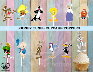 Looney Tunes Birthday  Cupcake Toppers