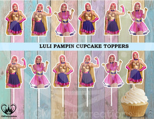 Luli Pampin Party Cupcake Toppers