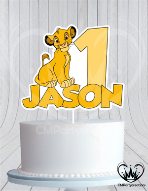 Lion King Cake Topper Birthday