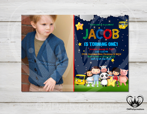 Little Baby Bum Night Invitation Birthday Party