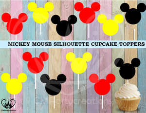 Mickey Mouse Birthday Cupcake Toppers Die Cuts